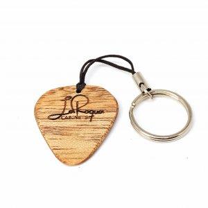 Schlüsselanhänger Plec (hell gemasert)